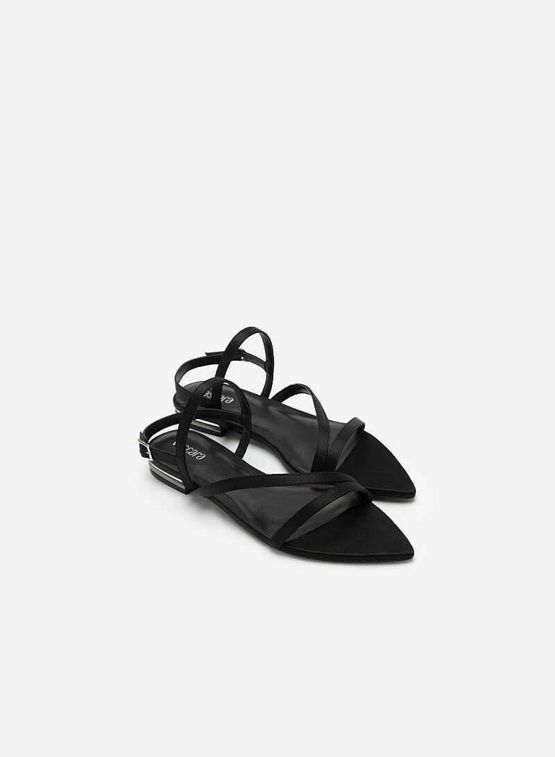 Giày Sandal Bệt Mũi Nhọn - SDK 0312 - Màu Đen - vascara.com