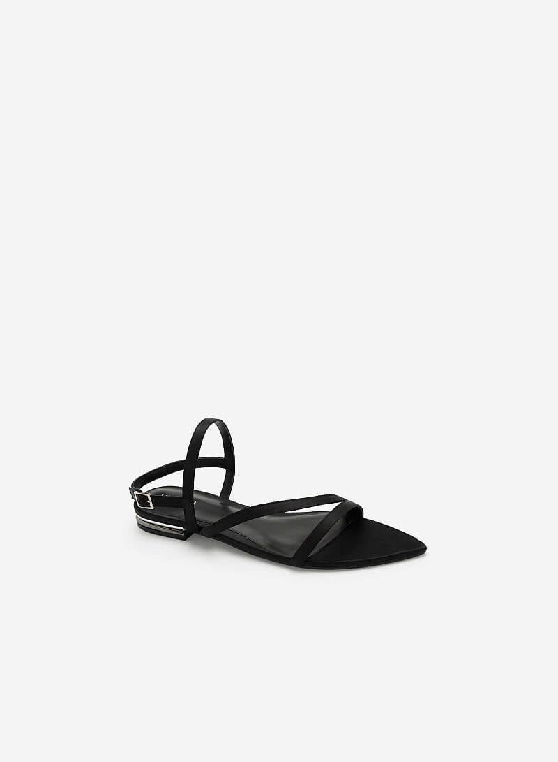Giày Sandal Bệt Mũi Nhọn - SDK 0312 - Màu Đen - VASCARA