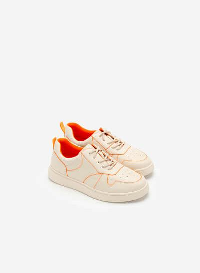 Giày Sneaker Neon Light 2 - SNK 0033 - Màu Kem - VASCARA
