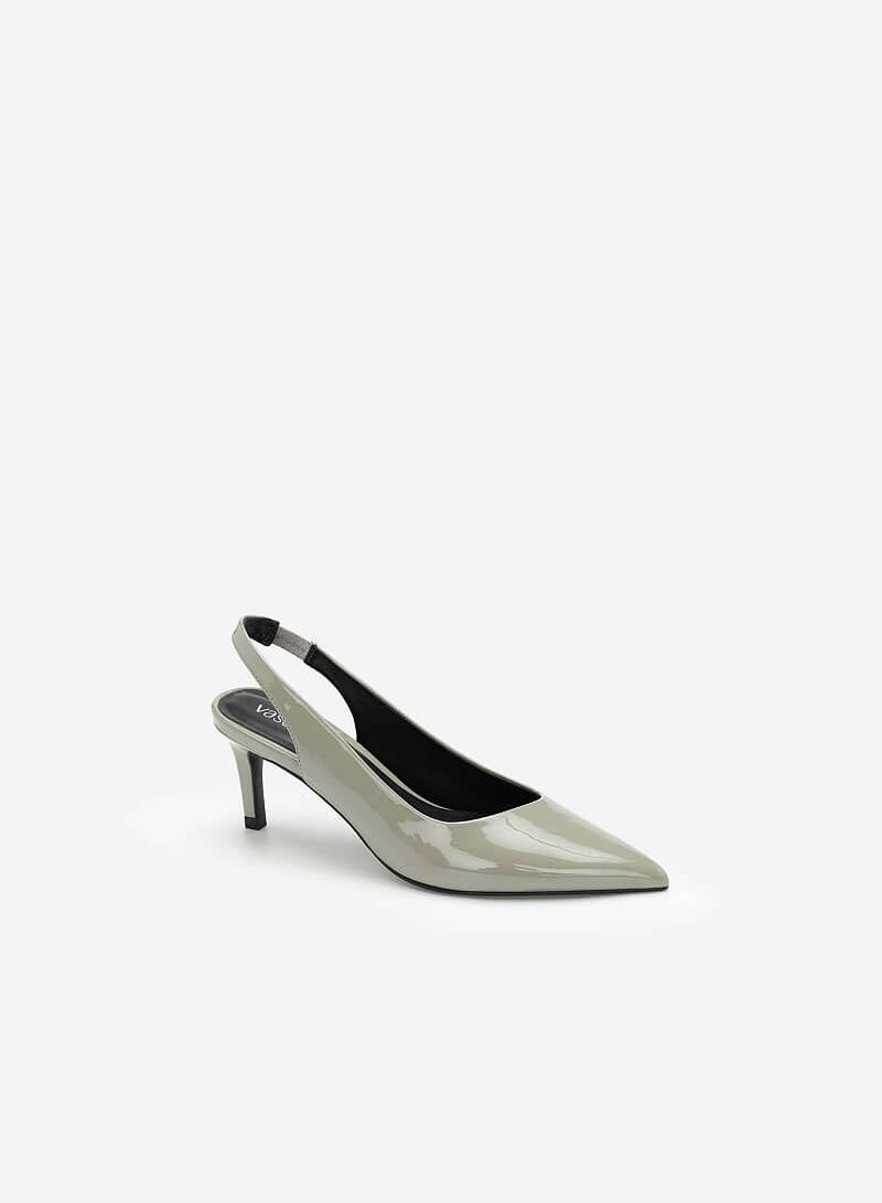 Giày Slingback Mũi Nhọn Quai Co Giãn - BMN 0424 - Màu Xám Nhạt - VASCARA