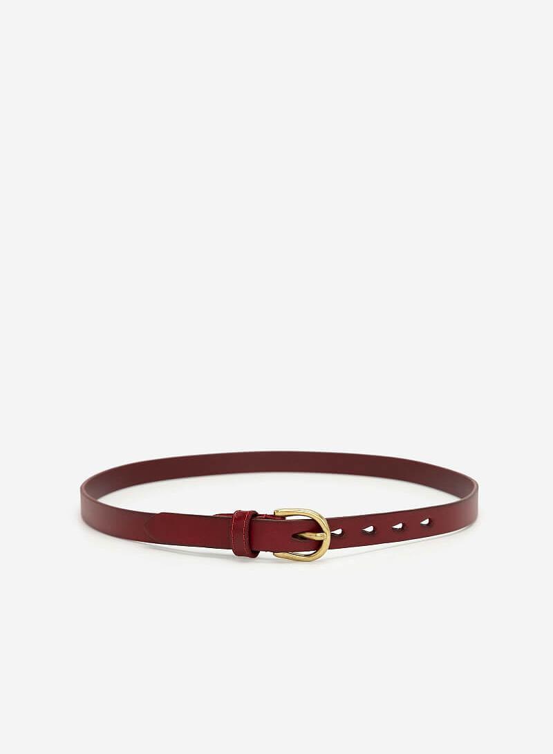 Thắt Lưng Nữ - TRO 0021 - Màu Đỏ Đậm - vascara.com