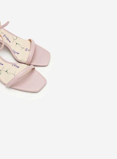 Giày Sandal Gót Hình Học (Lavender Collection) - SDN 0667 - Màu Tím Nhạt - VASCARA