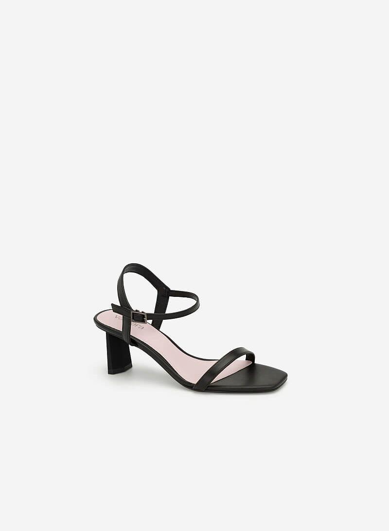 Giày Sandal Gót Hình Học - SDN 0667 - Màu Đen - VASCARA