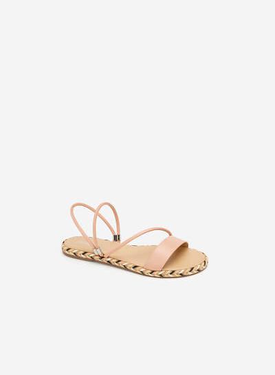 Giày Sandal Viền Cói - SDK 0308 - Màu Hồng