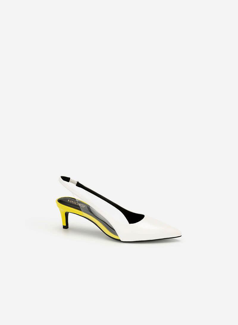 Giày Slingback Crystal Neon Light - BMN 0421 - Màu Vàng Neon - VASCARA