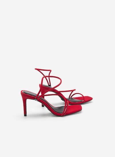 Giày Dự Tiệc Phối Viền Ánh Kim - SDN 0683 - Màu Đỏ - VASCARA