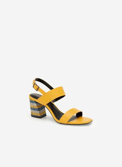 Giày Sandal Gót Cói Nhiều Màu - Another Day - SDN 0668 - Màu Vàng