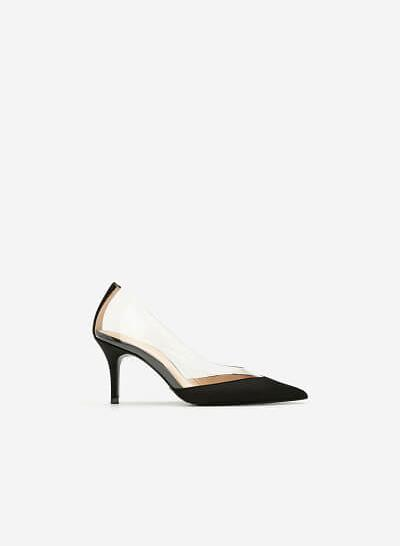 Giày Satin Crystal - New York Fashion Week 2019 - BMN 0414 - Màu Đen