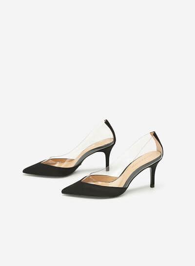 Giày Satin Crystal - New York Fashion Week 2019 - BMN 0414 - Màu Đen - VASCARA