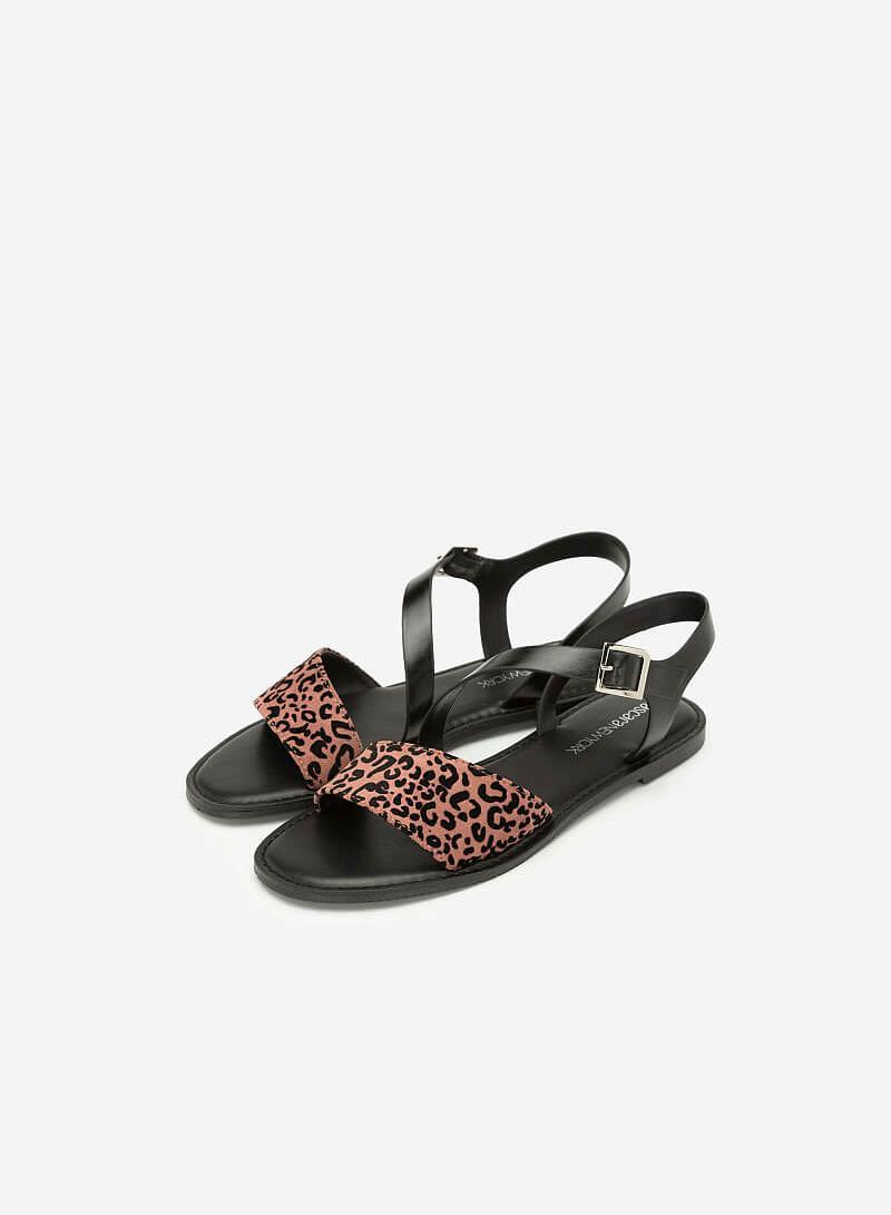 Giày Sandal Họa Tiết Da Báo - SDK 0305 - Màu Hồng - vascara.com