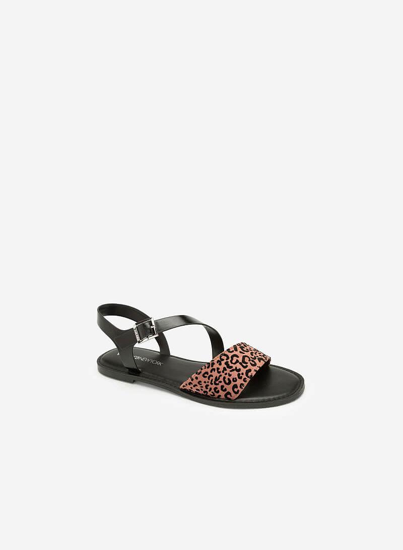Giày Sandal Họa Tiết Da Báo - SDK 0305 - Màu Hồng - VASCARA