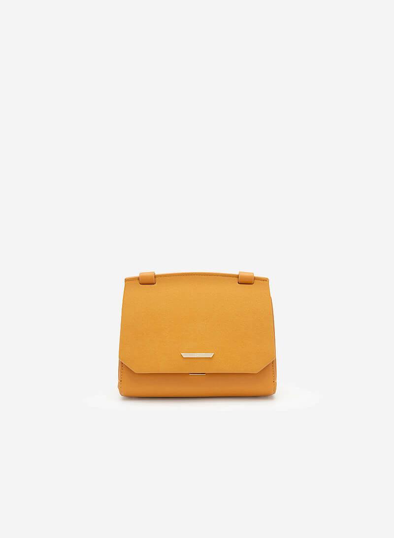 Túi Đeo Chéo Phối Nubuck - SHO 0150 - Màu Vàng Đậm - VASCARA