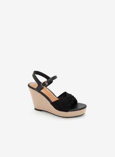 Giày Đế Xuồng Quai Đan Nơ - SDX 0421 - Màu Đen