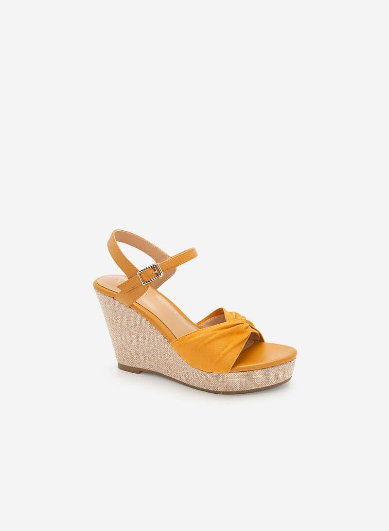 Giày Đế Xuồng Quai Đan Nơ - SDX 0421 - Màu Vàng - VASCARA