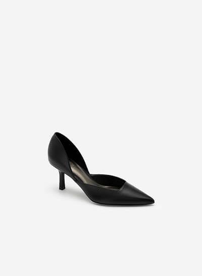 Giày Cao Gót Mũi Nhọn D'orsay - BMN 0443 - Màu Đen