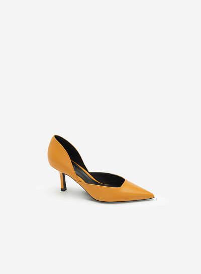 Giày Cao Gót Mũi Nhọn D'orsay - BMN 0443 - Màu Vàng Đậm