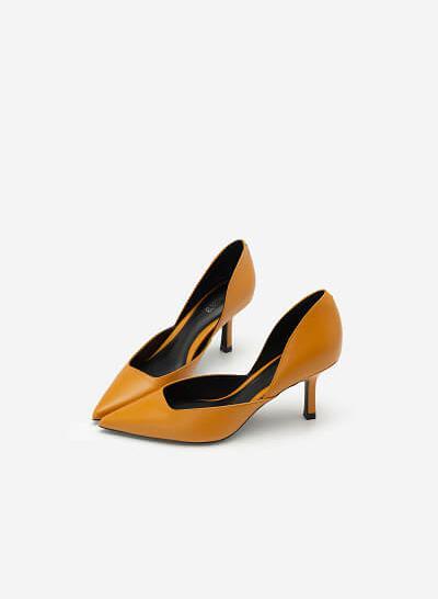 Giày Cao Gót Mũi Nhọn D'orsay - BMN 0443 - Màu Vàng Đậm - VASCARA