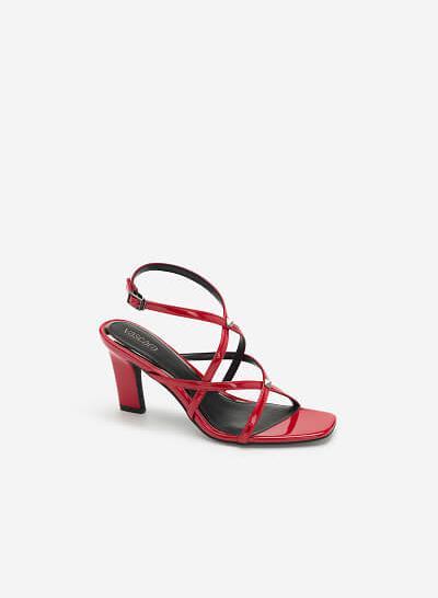 Giày Skinny Strap Đính Kim Loại - SDN 0675 - Màu Đỏ
