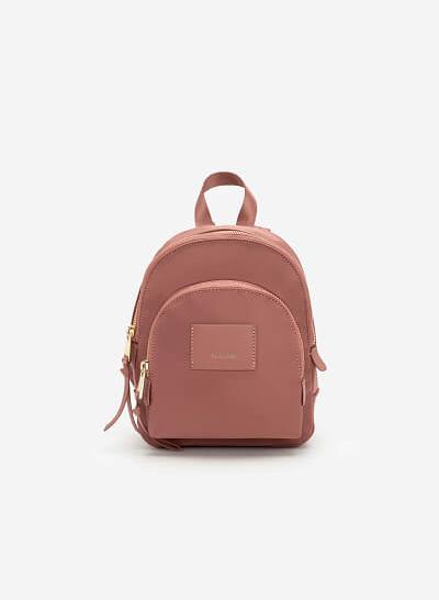 Balo Mini Vải Dù Đa Năng - BAC 0134 - Màu Hồng