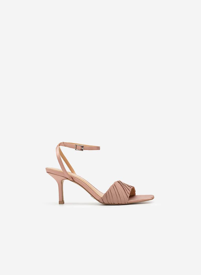 Giày Ankle Strap Quai Ngang Xếp Ly - SDN 0691 - Màu Hồng Đậm - vascara.com