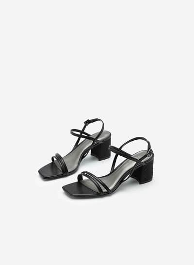 Giày Sandal Quai Đôi Thanh Lịch - SDN 0697 - Màu Đen - VASCARA