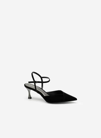 Giày Bít Mũi Nhọn Da Nubuck - BMN 0483 - Màu Đen - VASCARA