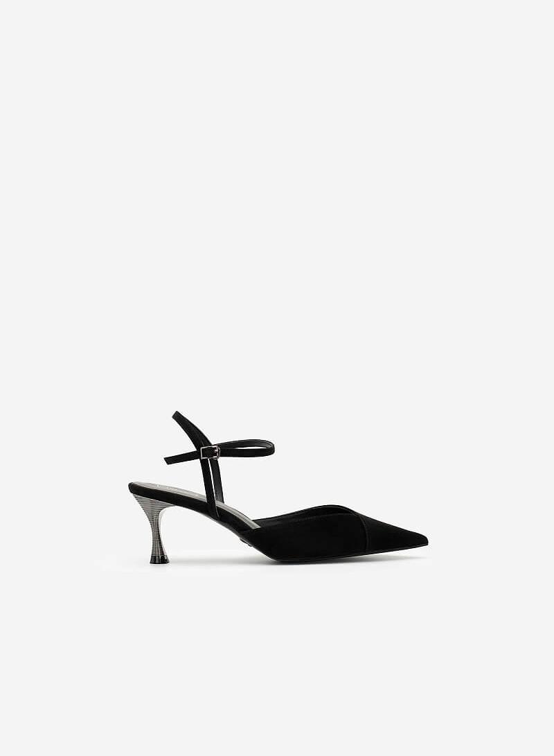 Giày Bít Mũi Nhọn Da Nubuck - BMN 0483 - Màu Đen - vascara.com
