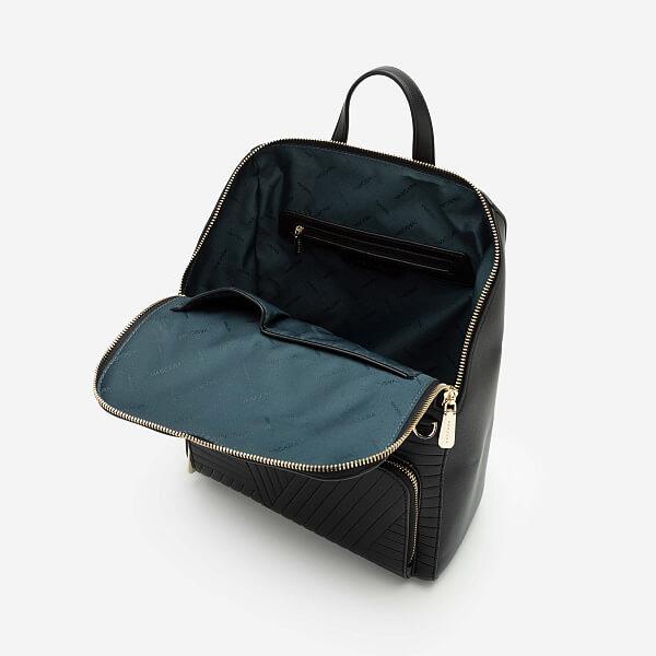 Balo Future Backpack Phối Họa Tiết Vân Nổi - BAC 0125 - Màu Đen - VASCARA