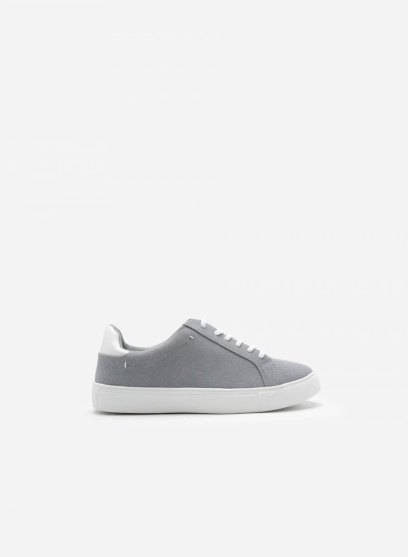 Giày Sneaker Da Nubuck - SNK 0039 - Màu Xám Nhạt