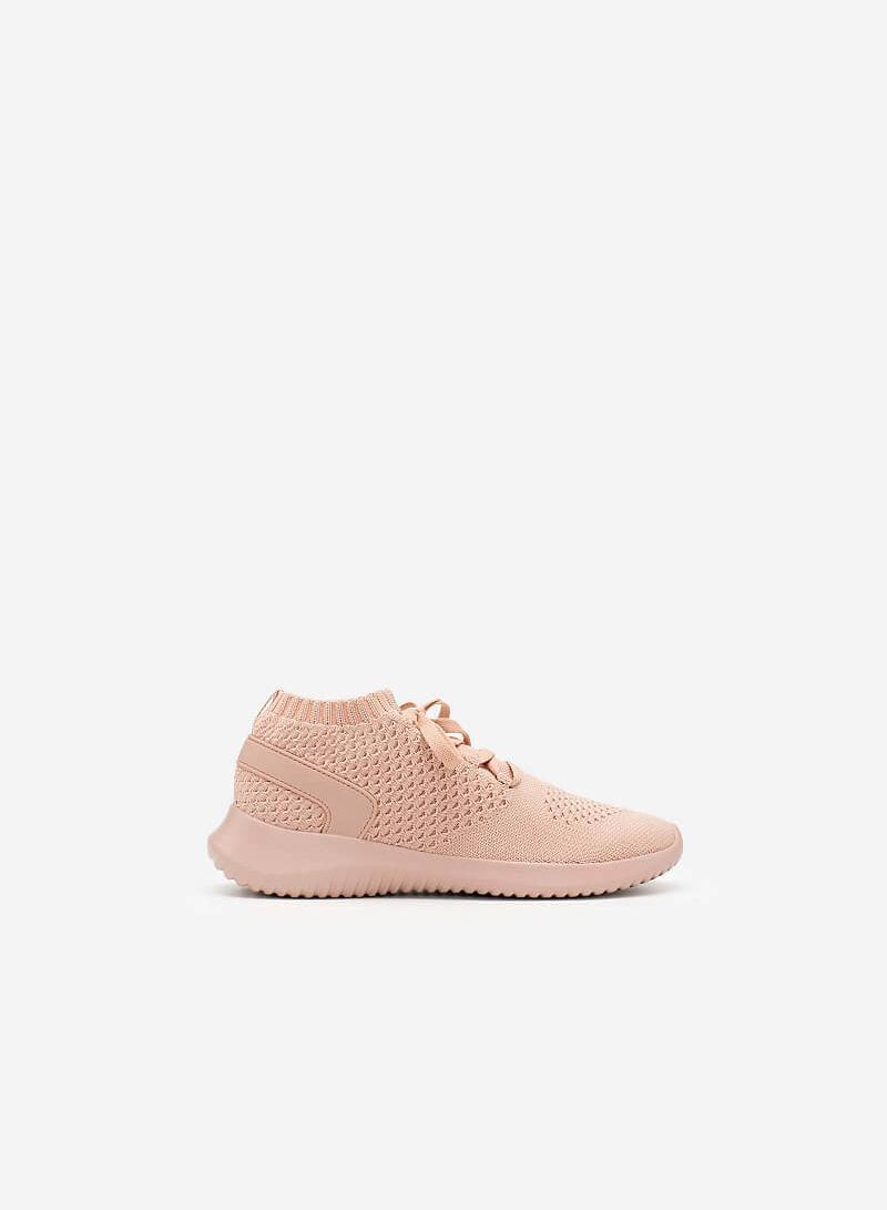 Giày Sneaker Vải Knit Cổ Co Giãn - SNK 0022 - Màu Hồng - vascara.com