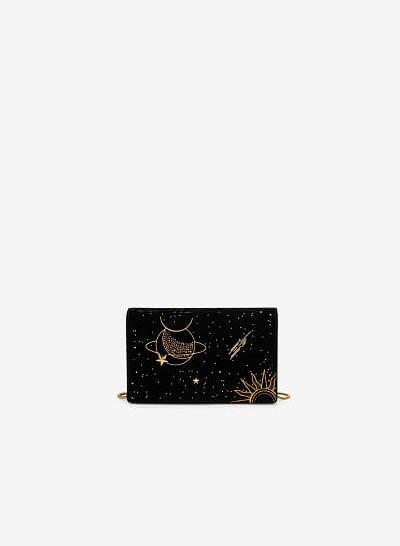 Túi Xách Nắp Gập Goddess Circe - SHO 0182 - Màu Đen