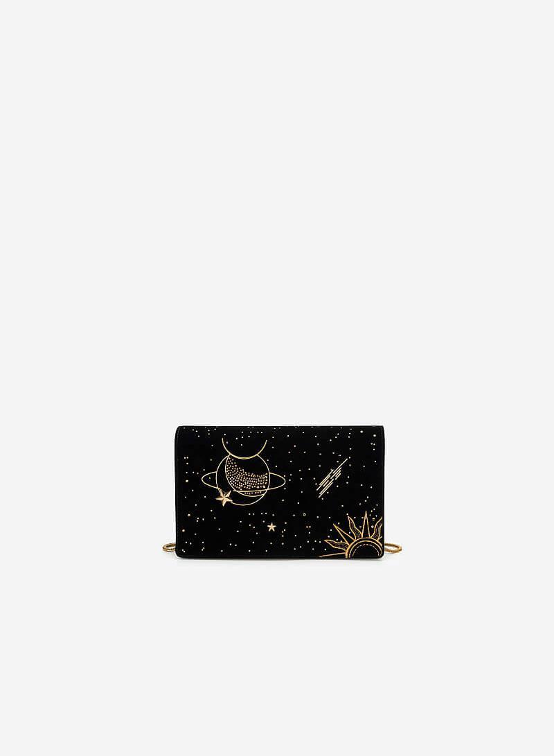 Túi Xách Nắp Gập Goddess Circe - SHO 0182 - Màu Đen - VASCARA
