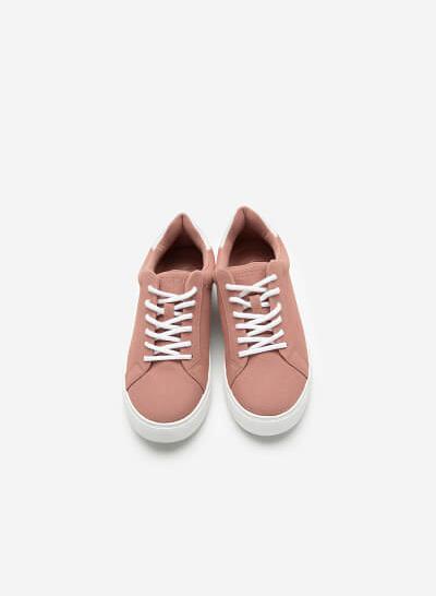 Giày Sneaker Da Nubuck - SNK 0039 - Màu Hồng Đậm - VASCARA