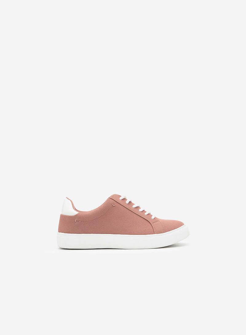 Giày Sneaker Da Nubuck - SNK 0039 - Màu Hồng Đậm