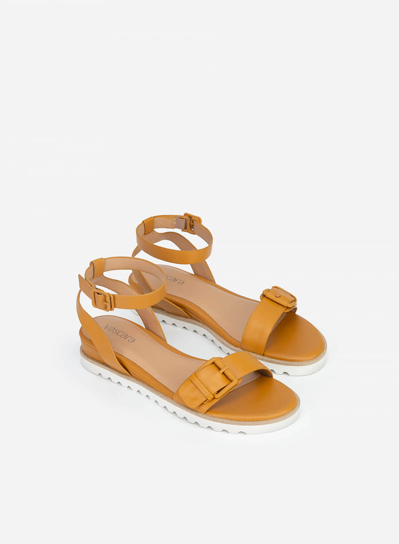 Xem sản phẩm Giày Sandal Đế Xuồng Quai Phối Belt - SDX 0423 - Màu Vàng Đậm