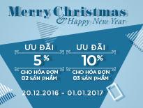 Merry Christmas & Happy New Year – Ưu đãi 5% cho hóa đơn 2 sản phẩm hoặc 10% cho hóa đơn từ 3 sản phẩm