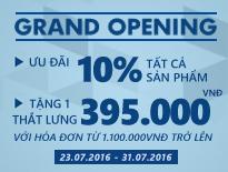 Vascara Vincom Đồng Khởi - Grand Opening - Ưu đãi 10% tất cả sản phẩm và tặng thắt lưng cao cấp