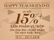 Happy Teacher's Day – Ưu đãi 15%++ sản phẩm Ví/Bóp cho hóa đơn có Túi xách hoặc Balo