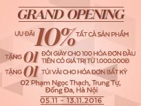 Grand Opening Vascara Vincom Phạm Ngọc Thạch – Ưu đãi 10% tất cả sản phẩm + Tặng 1 đôi giày cho hóa đơn từ 1 triệu đồng
