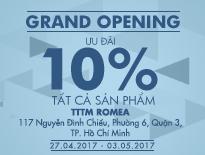 Grand Opening Vascara RomeA – Ưu đãi 10% tất cả sản phẩm - vascara.com