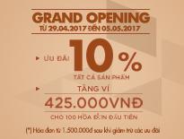 GRAND OPENING – VASCARA TẠI 3 TTTM VINCOM – ƯU ĐÃI 10% TẤT CẢ SẢN PHẨM + TẶNG 1 VÍ 425.000Đ - vascara.com