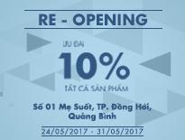 Re-Opening Vascara Quảng Bình – Ưu đãi 10% tất cả sản phẩm