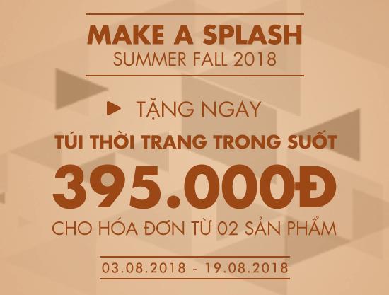 Summer Fall 2018 - Tặng ngay túi trong suốt trị giá 395K cho hóa đơn từ 02 sản phẩm - vascara.com