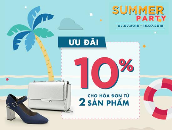 Summer Party - đa dạng phong cách ngày hè cùng bộ đôi giày túi thời thượng
