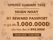 SPRING SUMMER 2018 | WANDERLUST - TẶNG 01 REWARD PASSPORT TRỊ GIÁ ĐẾN 1 TRIỆU ĐỒNG CHO HÓA ĐƠN TỪ 895.000Đ