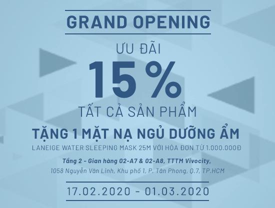 Grand Opening Vascara VivoCity – Ưu đãi 15% tất cả sản phẩm