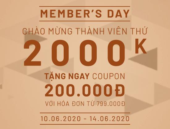 Chào mừng thành viên thứ 2.000.000 – Nhận ngay coupon 200K