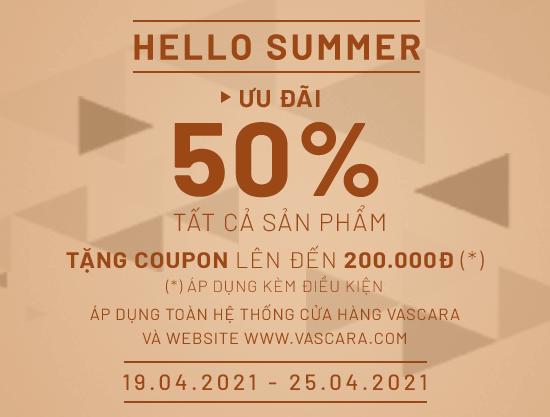 Hello Summer – Ưu đãi đến 50% + Tặng Coupon đến 200K