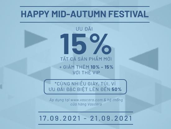 Happy Mid-Autumn Festival - Ưu đãi 15% Tất Cả Sản Phẩm Mới + Được Áp Dụng VIP