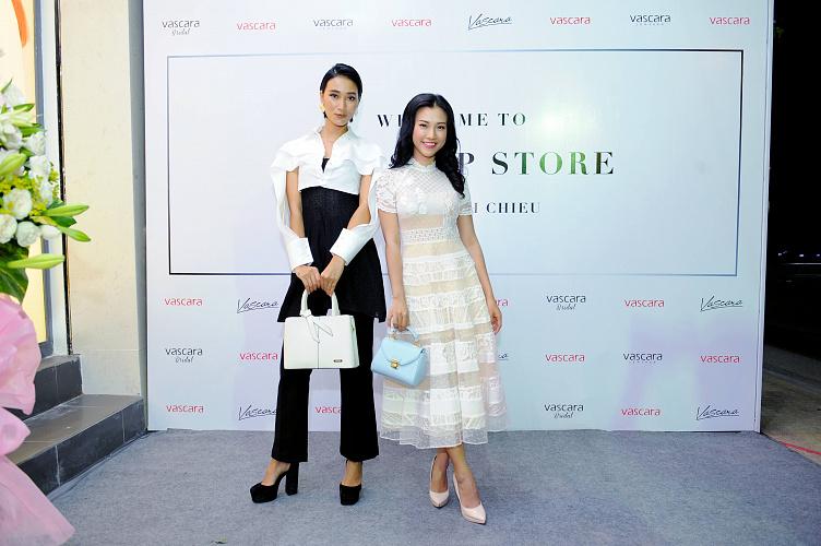 Siêu mẫu Trang Khiếu, Á Hậu Hoàng Anh mua sắm FlagShip Store Vascara